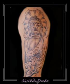boeddha lotus bovenarm