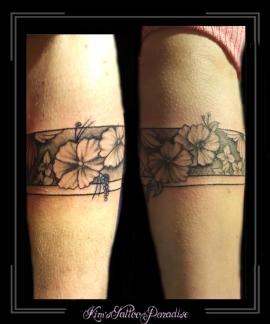 armband bloemen lijnen