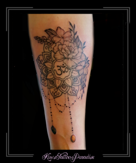 mandala,kant,hangers,stenen,bloemen,onderarm,3 ohm teken,