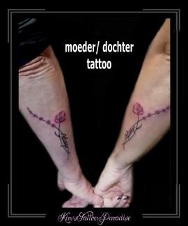 moeder,dochter,ouder,kind,love,liefde,family,familie,bloem,tekst,onderarm,