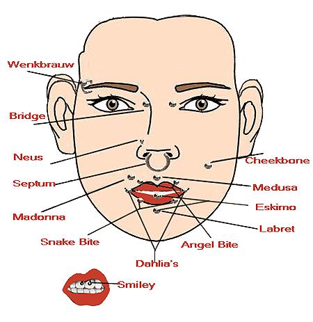 gezichtspiercings