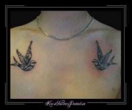 2 zwaluwtjes borst