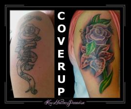 coverup bloemen bovenarm