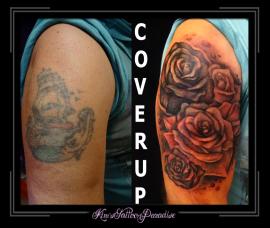 coverup rozen bovenarm