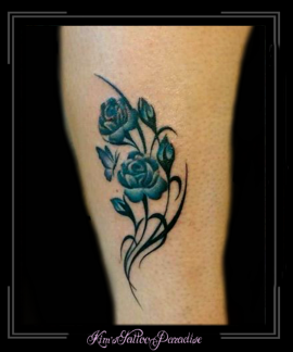 blauwe bloemen enkel