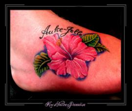 bloem op voet