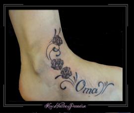 rozen en tekst voet