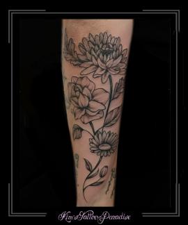bloemenminimalistischold-skoolonderarm