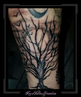 boom maan onderarm