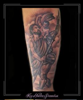 christoffel bijbel jezus wolken onderarm
