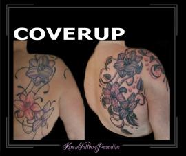 coverup bloemen rug lelies