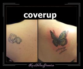 coverup naar vlinder schouder