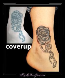 coverup roos rozen bloemen enkel