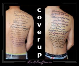 coverup tekst rug