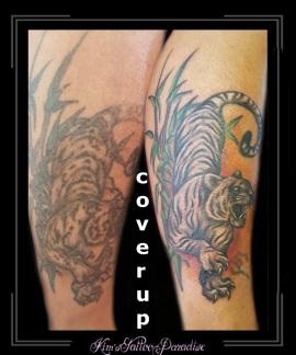 coverup tijger onderbeen