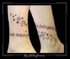 enkelband sterren letters tekst namen
