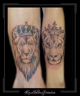 familie broer zus leeuw onderarm
