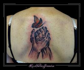handen beeld rug