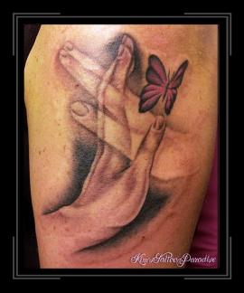 handen vlinder
