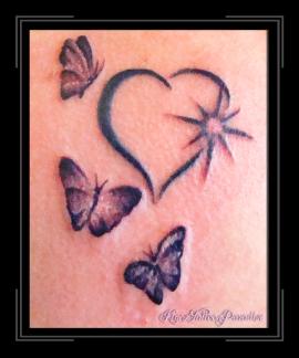 hartje met vlinders