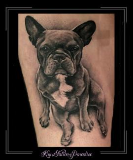 hond,franse bulldog,bovenbeen
