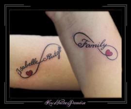 infinity hart tekst ouder kind family familie