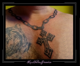 ketting kruis en naam