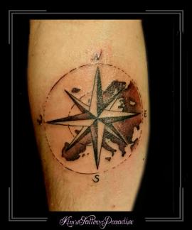 kompas,europa,landkaart,onderarm,