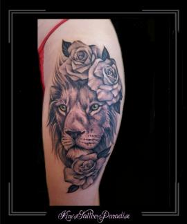 leeuw,rozen,roos,bloemen,bovenbeen,