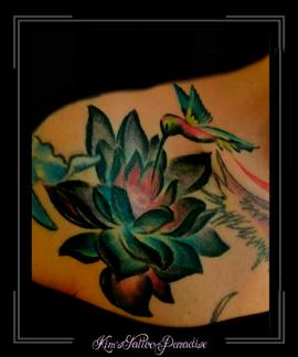 lotusleliekolibrivogelsleutelbeen