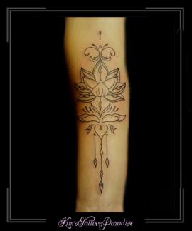 mandala lotus onderarm