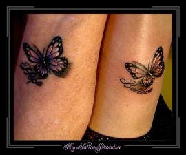 moeder dochter vlinders