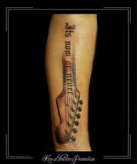 muziek gitaar tekst lied onderarm