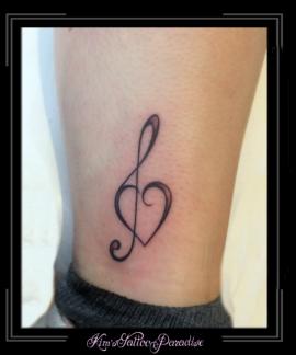 muzieksleutel en hart