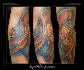 octopus inktvis fullcolor arm