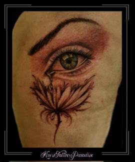 oog,traan,lotus,bloem,bovenbeen,