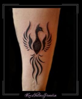 phoenix onderarm tribal