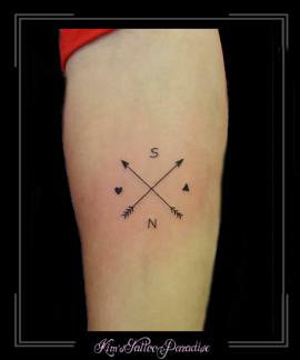 pijlen initialen onderarm