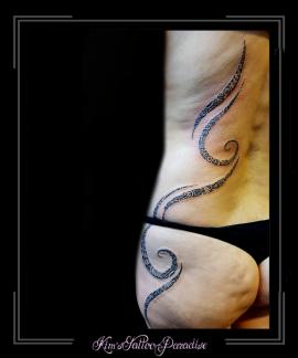 polinesisch maori lijnen zij