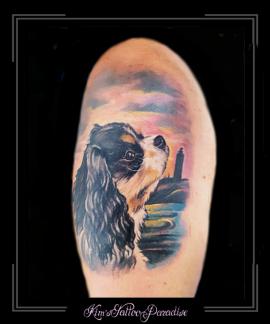 portret hond bovenarm