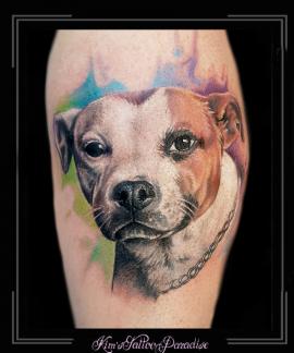 portret hond dier watercolor