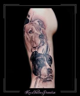 portret hond trash bovenarm1