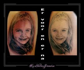 portret,dochter,meisje,bovenarm,