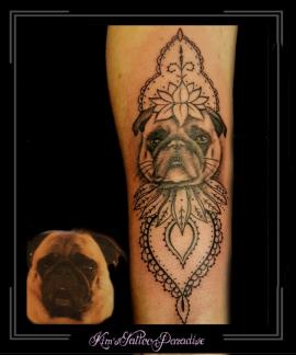 portret,hond,flip,onderarm,mandala,