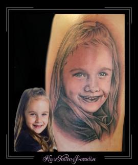 portret,meisje,dochter,bovenarm,