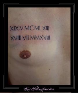 romeinse cijfers,data,datum,borst,