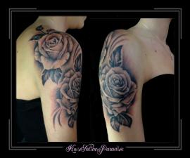 rozen op bovenarm