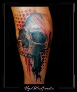 skull,skelet,doodshoofd,trash polka,kuit,
