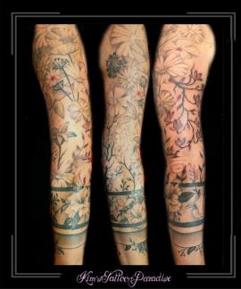 sleeve,bloemen,armband,