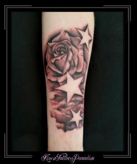 sterren met roos